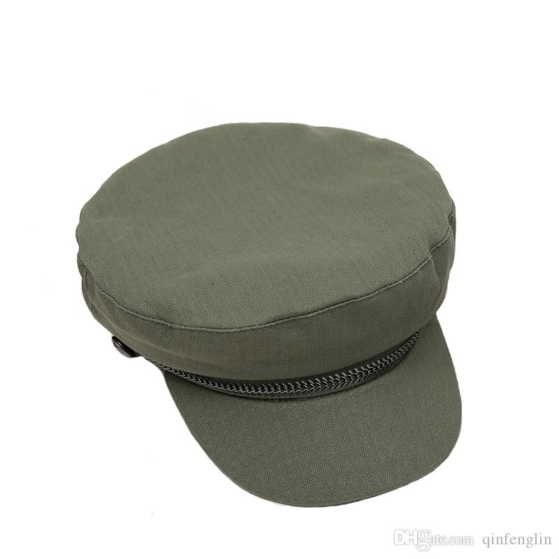 d74c4d335f1 Woman Cotton Military Hat Army Girls Hats Sailor Gorras Patrol Caps  Breathable Solid Color Military Hat Unisex German Army Caps Canada 2018  From Qinfenglin