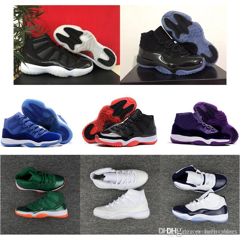 8d68a1f6a86a95 2018 Luxury Shoes 11s Mens Women Basketball Shoes Space Jam 11 ...