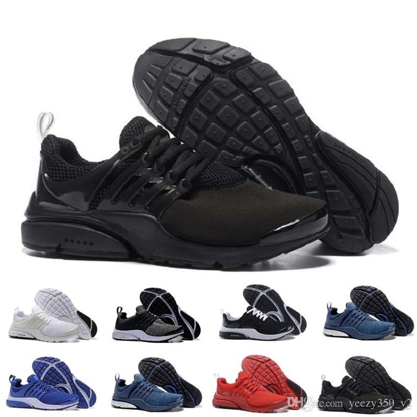 f2d35a5c7310 Acheter Nike En Gros Air Presto Br Qs Respirer Noir Blanc Mens Basketball  Chaussures Sneakers Femmes, Chaussures De Course Pour Hommes Chaussure De  Sport, ...