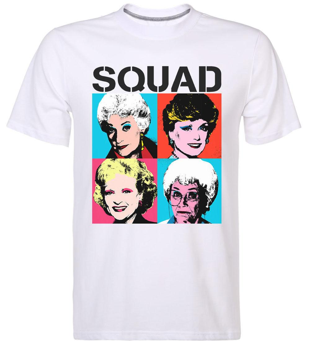 90f952b4a12 New Golden Girls Squad T Shirt Rose Dorothy Blanche Sophia Retor 80s Men S  Tee Mans Unique Cotton Short Sleeves 2018 Summer Funky Tshirts T Sirt From  ...