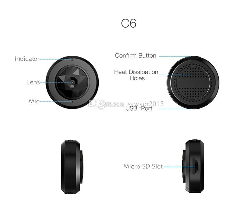 C6 Mini Caméra WiFi WiFi IP Caméra IP HD 720P Vision de nuit Mini DV Portable Détection de mouvement DVR Accueil Sécurité Video Caméscope