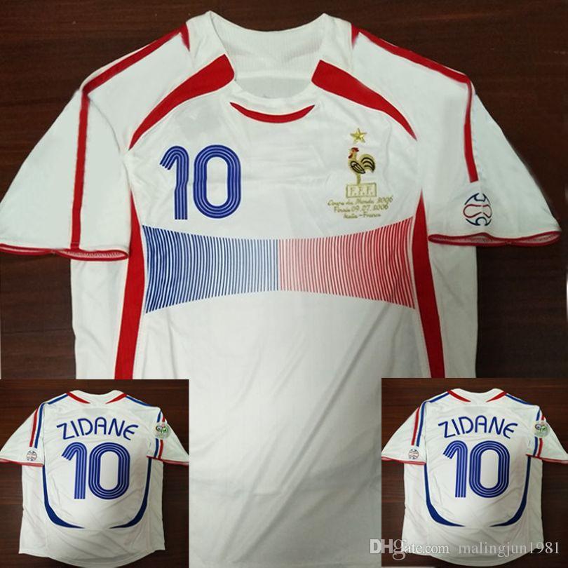 Compre Jérsei De Futebol Retro 2006 ZIDANE Henry Trezeguet Vieira Ribery 06  Camisas De Futebol Vintage Maillot De Foot Camisas De Futebol De  Malingjun1981 0f09acfdc8381