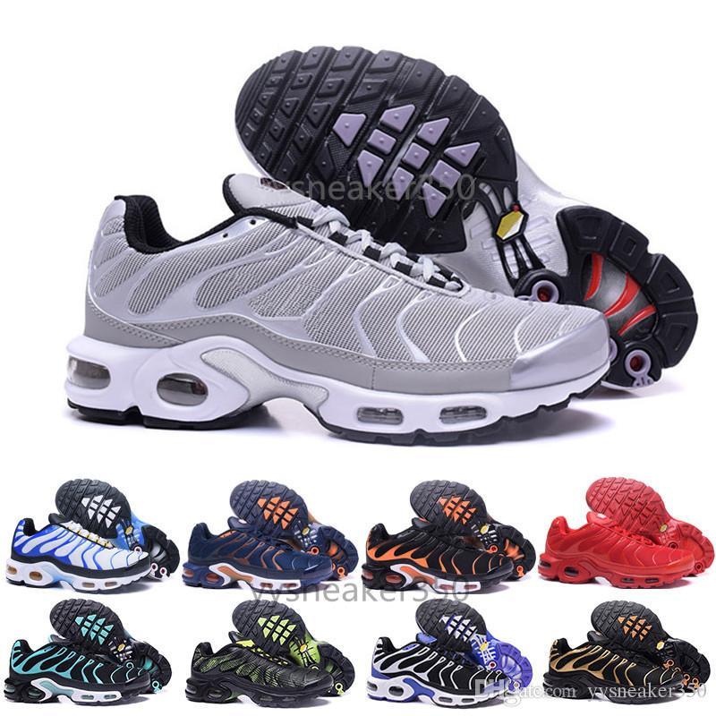 innovative design 41aa0 86375 Acheter Nike Tn Plus Air Max Airmax 2018 Nouveau Design Top Qualité TN  Hommes TrAinErs ShOes Respirant Mesh Chaussures Homme Tn REqUin Noir Casual  RuNnING ...