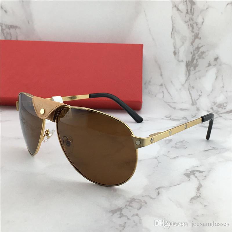 1db404519e New Fashion Designer Sunglasses 229099669 Frame Leather Pilots Popular  Selling Style Uv400 Lens Top Quality Protection Eyew Classic Style BRAND  SUNGLASSES ...