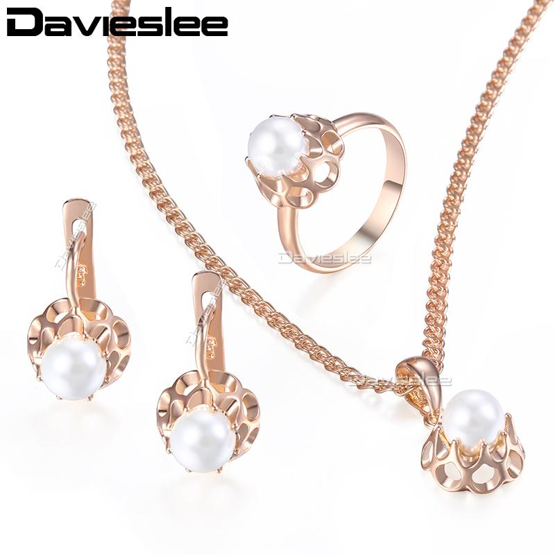 015d420a2 Cheap Gold Plated Long Necklace Sets Wholesale New Gold Flower Chain Set