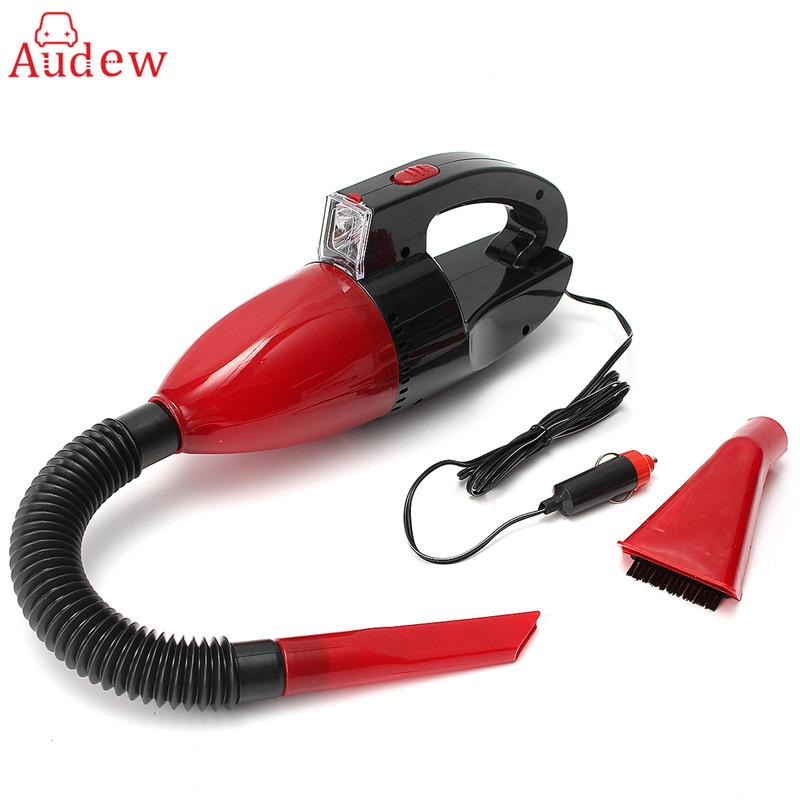 2019 Red 60w 12v Car Power Portable Vacuum Cleaner Wet Dry Dual Use