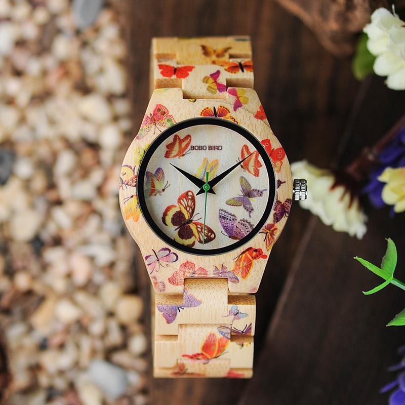 569a964888a Compre Relógio De Pulso Para As Mulheres BOBO PÁSSARO O20 Borboleta  Imprimir Mulheres Relógios Todo O Bambu Feito De Quartzo Relógio De Pulso  Para Senhoras ...