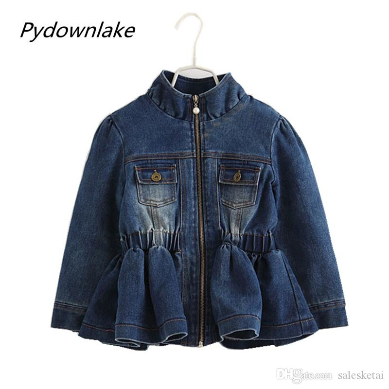 fcf1a2886ec0 2018 Sale Direct Selling Girl 3 7 Years Baby Girls Fall Winter Coat Warm  Kids Jackets Long Sleeve Denim Coats And Autumn Children Outerwear Toddler  Boys ...