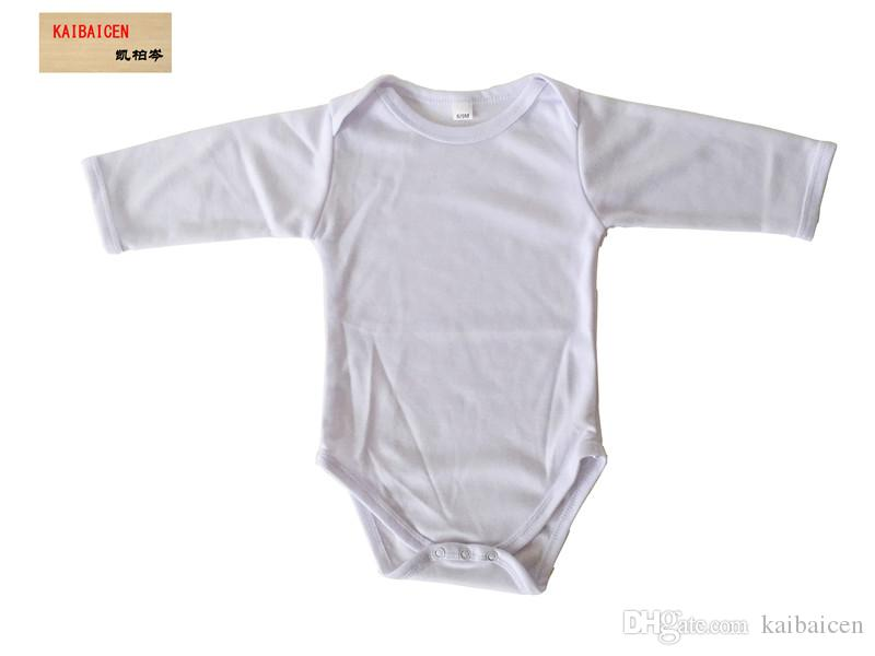 패션 DIY 승화 아기 잠 옷 - 긴 / 짧은 소매 열 전달 프레스 기계 유아 결합 된 옷