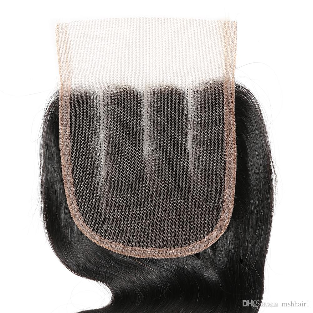 10A Brasilianische Reine Haarkörperwelle 3 Bundles Mit Drei Teil Schließung Natürliche Schwarze Menschenhaar Extensions Brasilianische Gerade Haarbündel