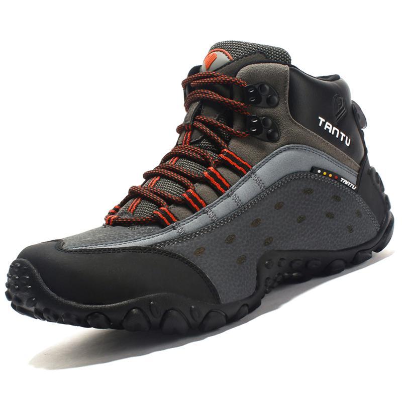 3e5b131b9 Compre Tamaño 39 46 Hombres Zapatos De Seguridad En El Trabajo Botas De  Cuero Botines Casuales Para Caminatas Al Aire Libre Combate Antideslizante  Botas ...