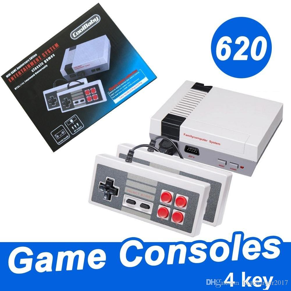New Arrival Mini TV can store 620 Game Console Video Handheld for NES games  consoles with retail boxs free shipping