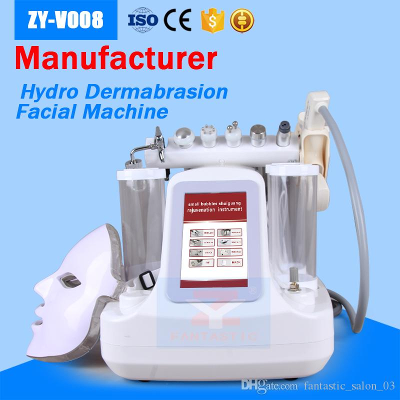 Hydra Dermabrasion Machine 8 in 1 초음파 RF 바이오 냉각 Oxygen Jet Microdermabrasion PDT 라이트 마스크 Mesotherapy Hydra Facial Machine