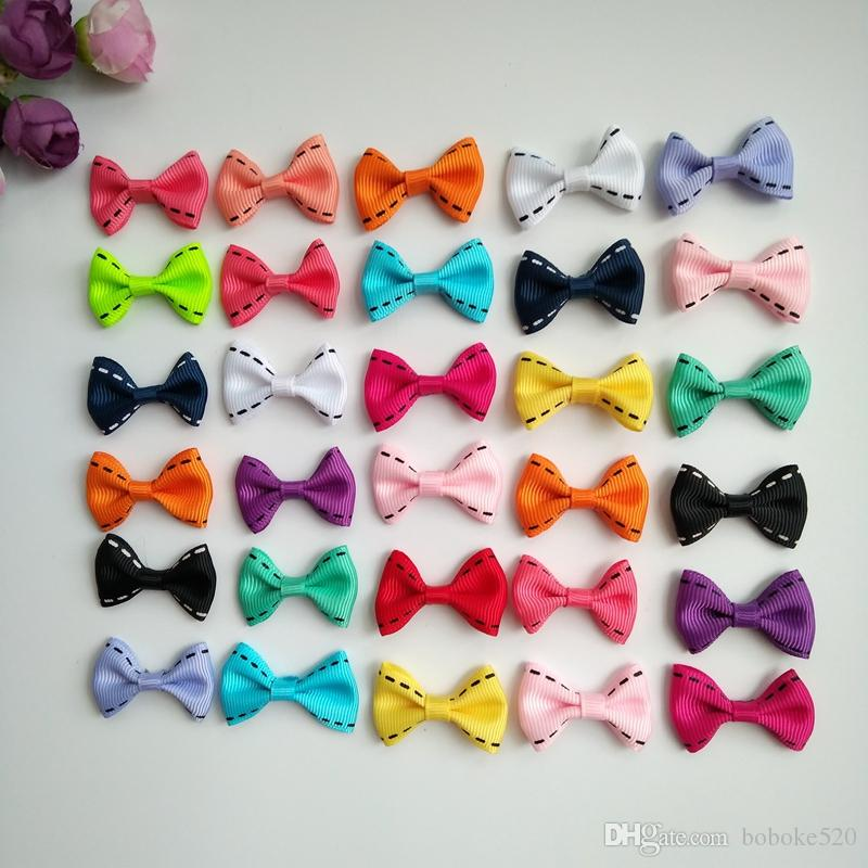 2d738fffd6fb 1.4Inch Baby Girls Grosgrain Ribbon Bowknot Small Hair Bows With Clips  Barrettes For Teens Kids Toddlers Children Asian Hair Accessories Baby Girl  Hair ...