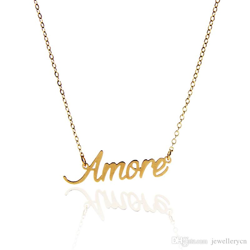 Wholesale personalized name necklace customized for women stainless wholesale personalized name necklace customized for women stainless steel name necklace amore customized nameplate necklace jewelry nl 2424 silver pendant mozeypictures Choice Image