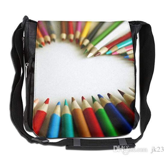 crossbody messenger bag rainbow crayon love heart shoulder tote