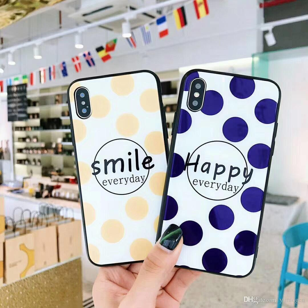 Smile Case For Iphone X Xs Max Xr7 8 6 6s Plus Tpu Back Cover Tempered Glass Xiaomi Redmi Note4x Clear
