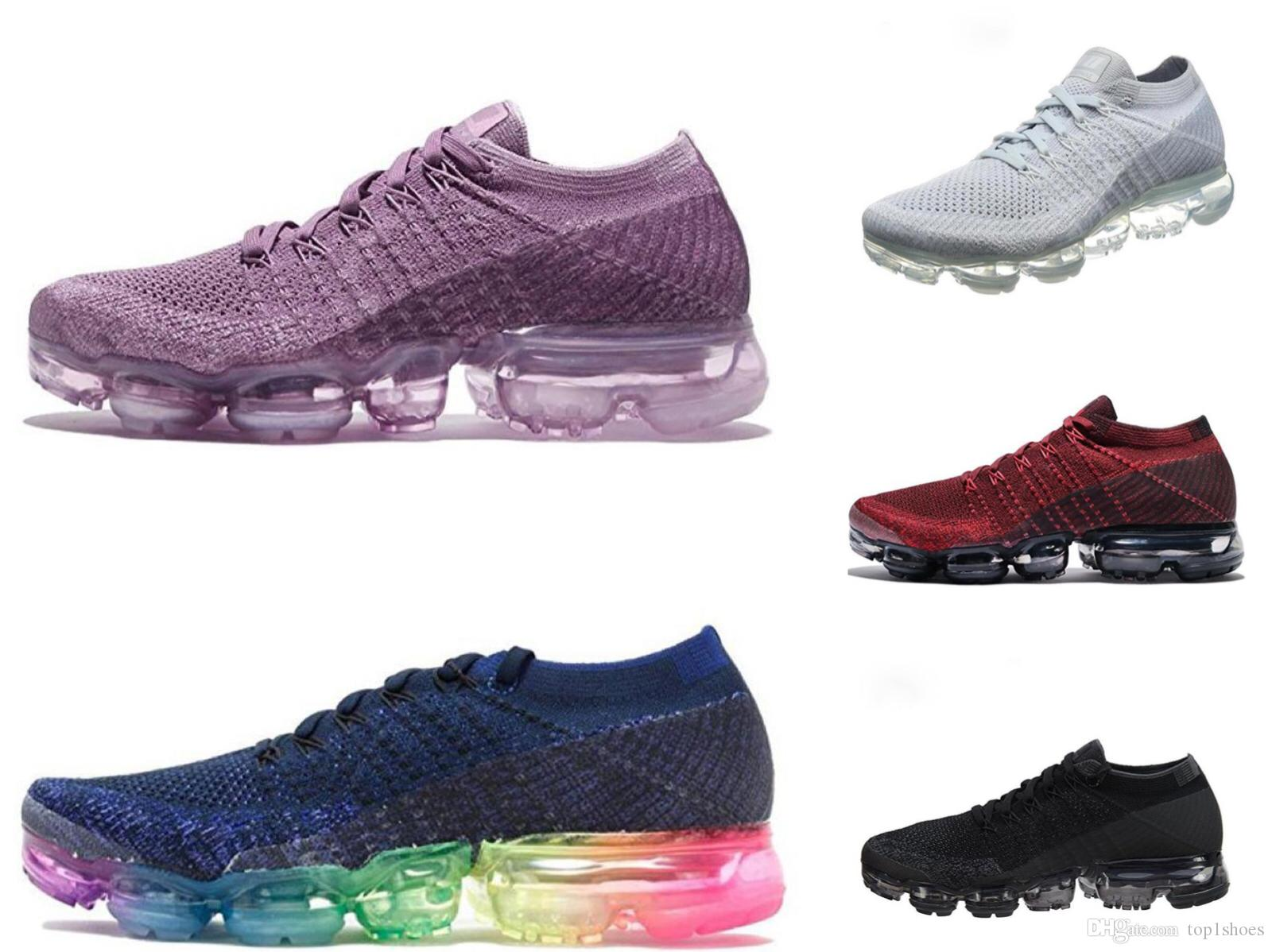 2017 New Vapormax Mens Running Shoes For Men Sneakers Women Fashion Athletic Sport Shoe Hot Corss Hiking Jogging Walking Outdoor Shoes extremely best prices online 5h9hl5aQz2
