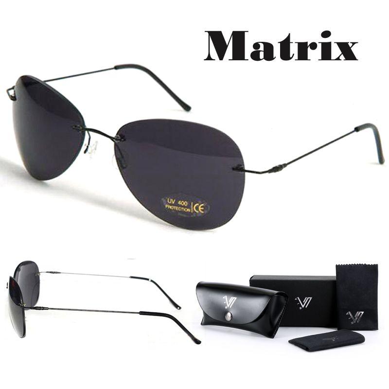 26e3377c4f Matrix Morpheus Sunglasses Movie Sunglasses Men Neo Ultralight Rimless  Classic Glasses Oculos Gafas De Sol 2017 New Sunglasses Uk Polarised  Sunglasses From ...