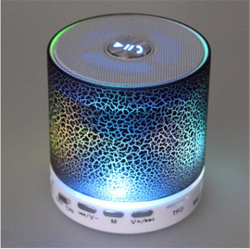 Беспроводной динамик Bluetooth мини-колонки A9 LED цветной Флэш-динамик FM-радио TF карта USB для iPhone X 8 мобильный телефон PC S8