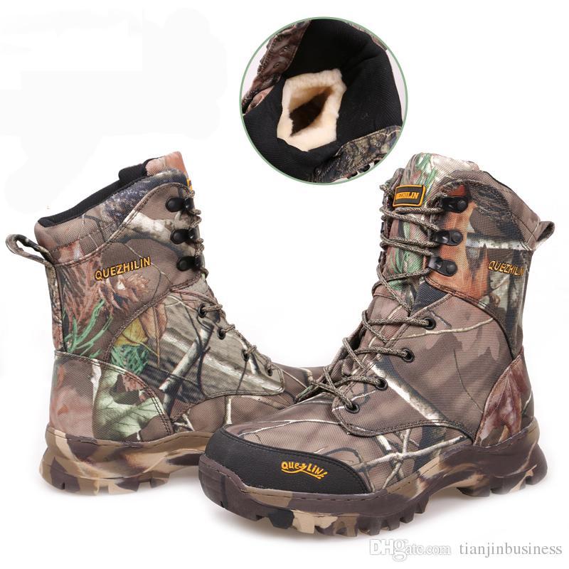 62938f0c7d1 Hunting Trekking Walking Boots Men Winter Waterproof Tactical Camping  Climbing Outdoor Snow boot Men Hiking Shoes Mens