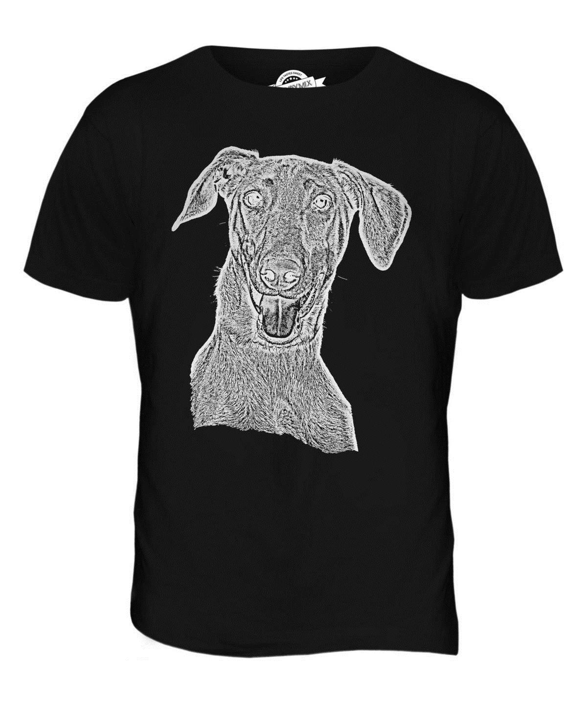 18c16f7df2a98 DOBERMAN PINSCHER SKETCH MENS PRINTED T SHIRT TOP GREAT GIFT FOR DOG LOVER  Tee Shirts Funny Tee Shirt Sites From Yubin6, $27.6  DHgate.Com