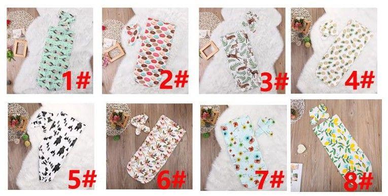 2017 Infant Baby Swaddle Baby Boys Girls Bear Blanket+Headband Newborn Baby Soft Cotton Sleep Sack Two Piece Set Sleeping Bags