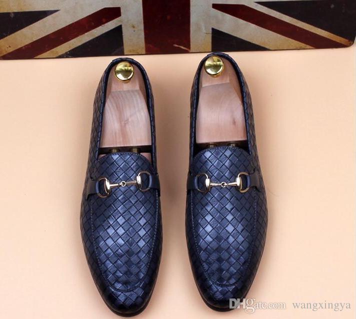 Zapatos de hombre de cuero genuino de lujo Casual Oxfords zapatos de los planos mocasines para hombre mocasines zapatos italianos para hombres nx17