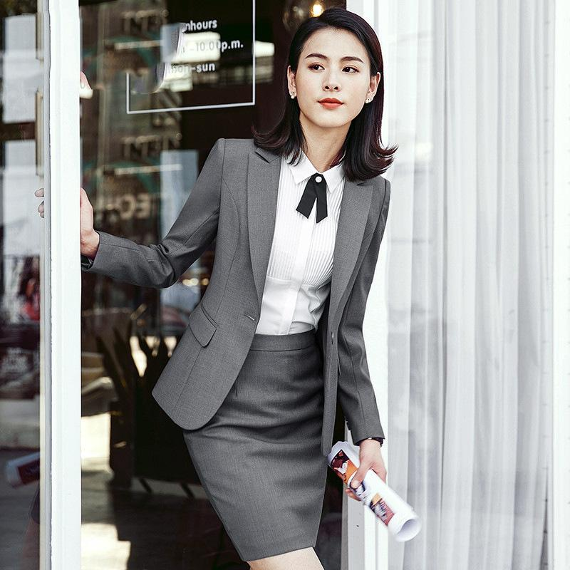 2d0718969e Women Skirt suits blazer+skirt sets 2/3/4 pieces/set office lady formal  unifor jacket+bottom female work wear costume interview