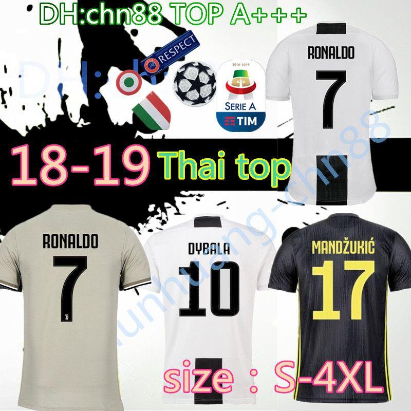 0a8f999b7 18 19 Juventus RONALDO Soccer Jerseys Dybala 2018 2019 D.COSTA ...
