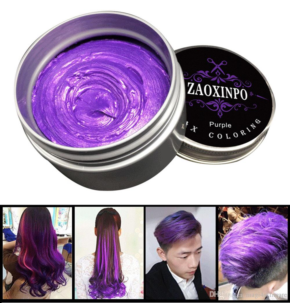 120g Diy Hair Clay One Off Color High Hold Gel Mud Cream Pomade