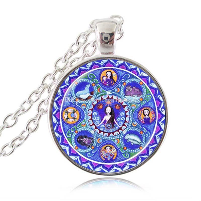 Cancer Zodiaque Collier Astrologie Mandala Pendentif Énergie Guérison Méditation Juillet Cadeau d'Anniversaire pour Ami Filles Femmes Animal Image Choker