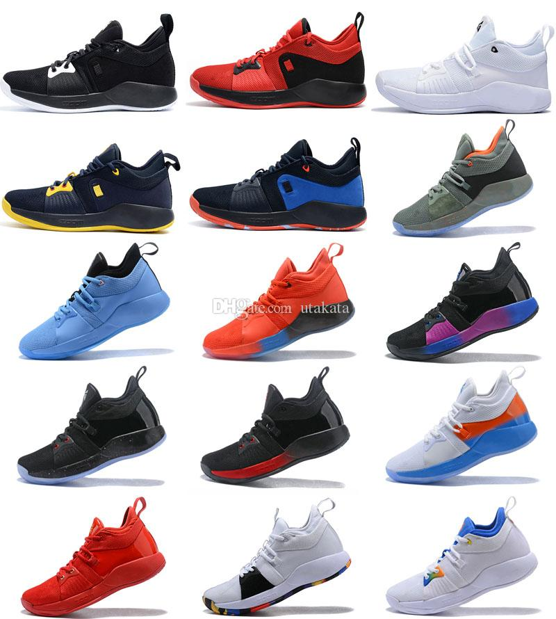 timeless design d742a 1d0bf Hot Sale PG 2 PlayStation PS Lights UP Paul George II Casual Shoes PG2  Multi Men Women Training Sneakers EUR 40-46