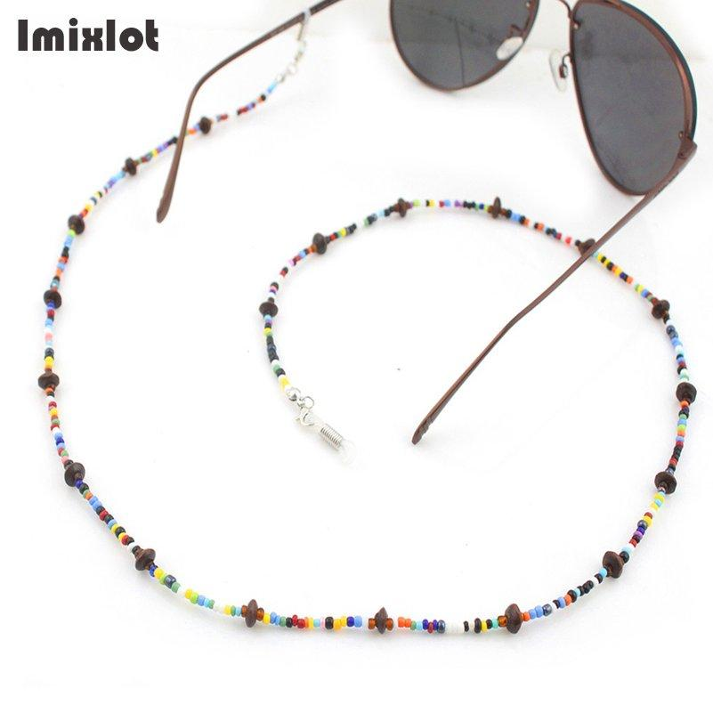 Eyewear Accessories 2019 Fashion New Women Fashion Colorful Beaded Eyeglass Chains Girls Eyewears Sunglasses Glasses Chain Cord Holder Neck Strap Rope Apparel Accessories