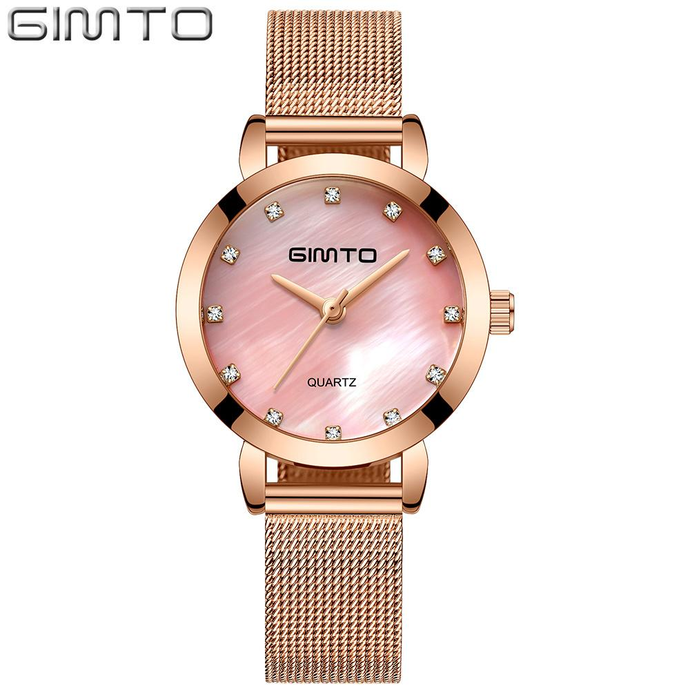 3ea4d7705c2 X GIMTO Small Rose Gold Women Watches Luxury Brand Bracelet Steel Female  Clock Dress Girls Ladies Quartz Watch Relogio Feminino Watch Sales Watch  Sales ...