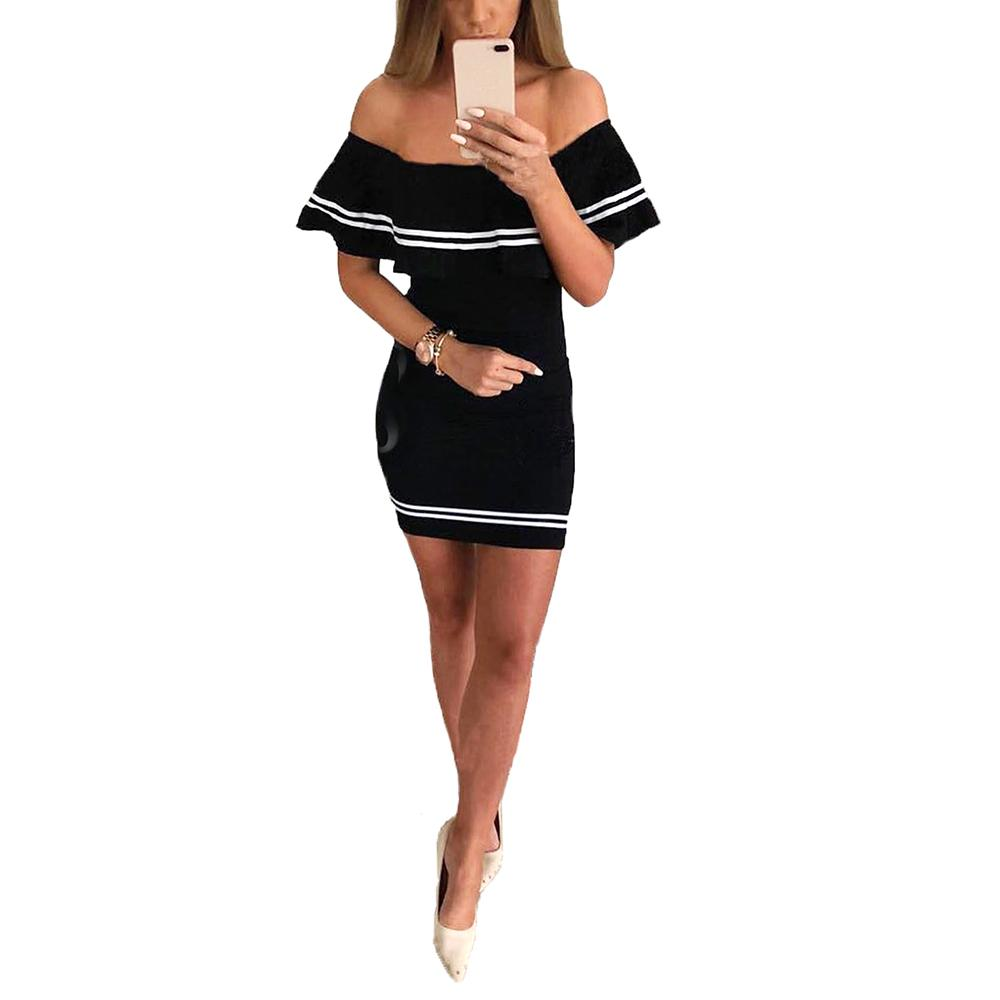 96ca74527314 New Bodycon Bandage Dress For Women Ruffled Slim Dresssummer Elegant Off  Shoulder Hip Mini Party Dress Tube Top Womens Sundress Womens Party Dress  From ...