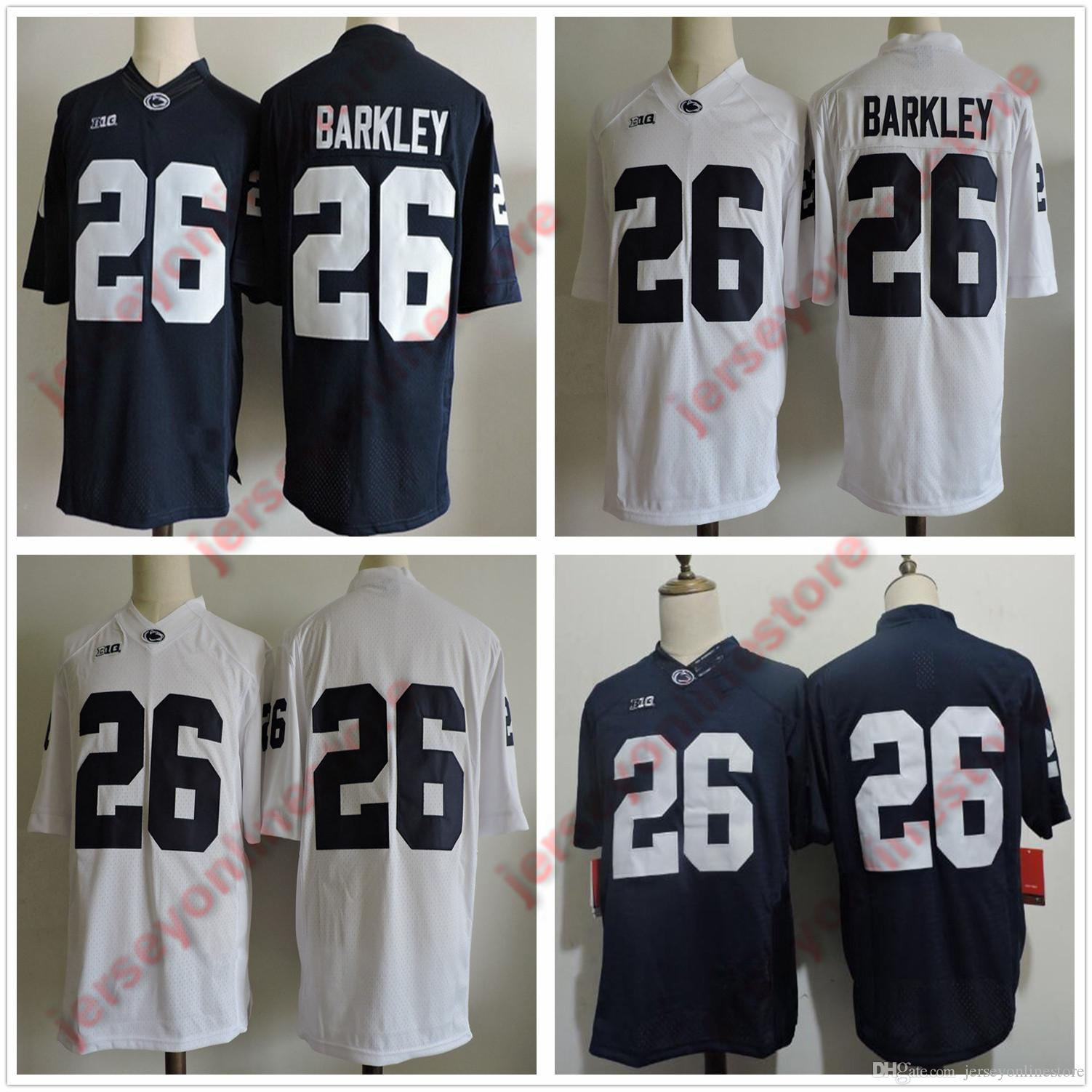 c5addab8916 2019 Mens Womens Youth Kids Penn State Nittany Lions Saquon Barkley College Jersey  Navy White Stitched Barkley Football Jerseys From Jerseyonlinestore
