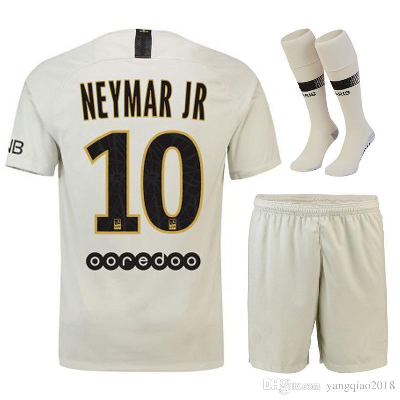 8f17a72cb 2019 18 19 NEYMAR JR Soccer Sets PSG Home Away Football Uniform Kits Full  Set + Socks VERRATTI CAVANI Maillot De Foot Black MBAPPE Jerseys From  Yangqiao2018 ...