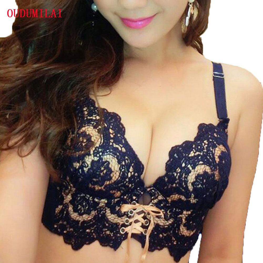 6b36f1abf19 2019 OUDOMILAI 2018 Hot Padded Push Up Bra Set Sexy Lace Japanese Young Women  Underwear Set Embroidery Bra Panty Small Chest Lingerie C18110301 From  Tong04, ...