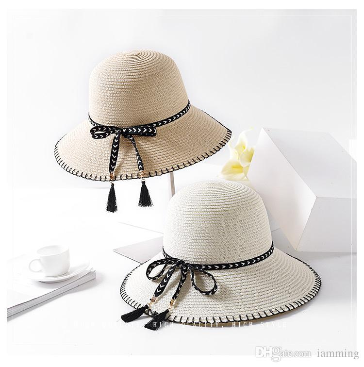 High Quality New Straw Hat Women Summer Sun Protection Hats Women ... 498f4849b6a