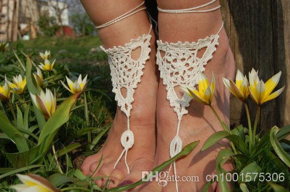 Crochet Barefoot Sandals, Beach Shoes, Wedding Accessories, Nude Shoes, Foot Jewelry, Accessories for Women.