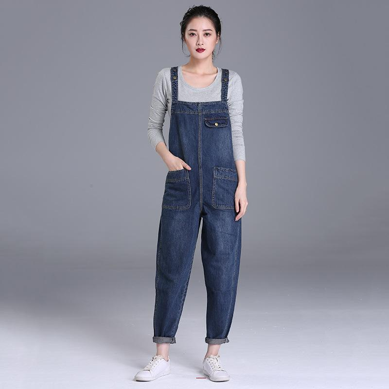 8af0d02cd65 2019 Fashion 2018 S 6xl Plus Size Women Denim Jumpsuit Bib Pants Spring  Summer Bf Large Size Jeans Female Trousers Jumpsuit 5XL A231 From Karel
