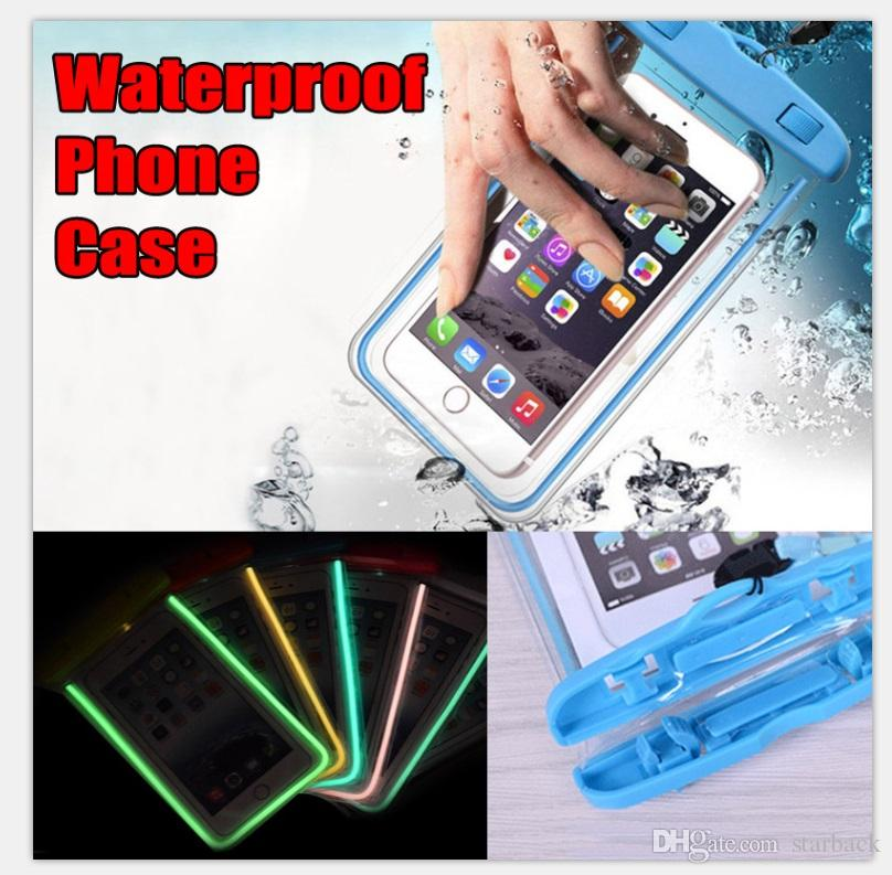 Waterproof Case Bag Phone Case Bag Luminous Phone Pouch Water Proof Case Diving Swimming for Smart Phone up to 5.8 Inch