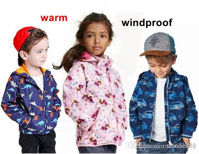 Kids Clothes Winter Baby Hoodies Fashion Jackets Boys Girls Tops Dinosaurs  Trench Coats For Children Outwear Clothing Wholesale Brown Trench Coat Red  Trench ... f8e8ee4775