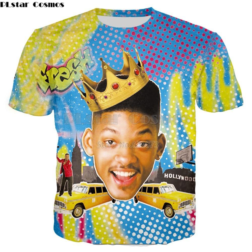 95dd87d137aa1 Acheter Été PLstar Cosmos 2018 Nouveauté T Shirt Le Prince Frais De Bel Air  Will Smith / Carlton Banques Imprimé T Shirt Décontracté De $33.54 Du  Feixianke ...