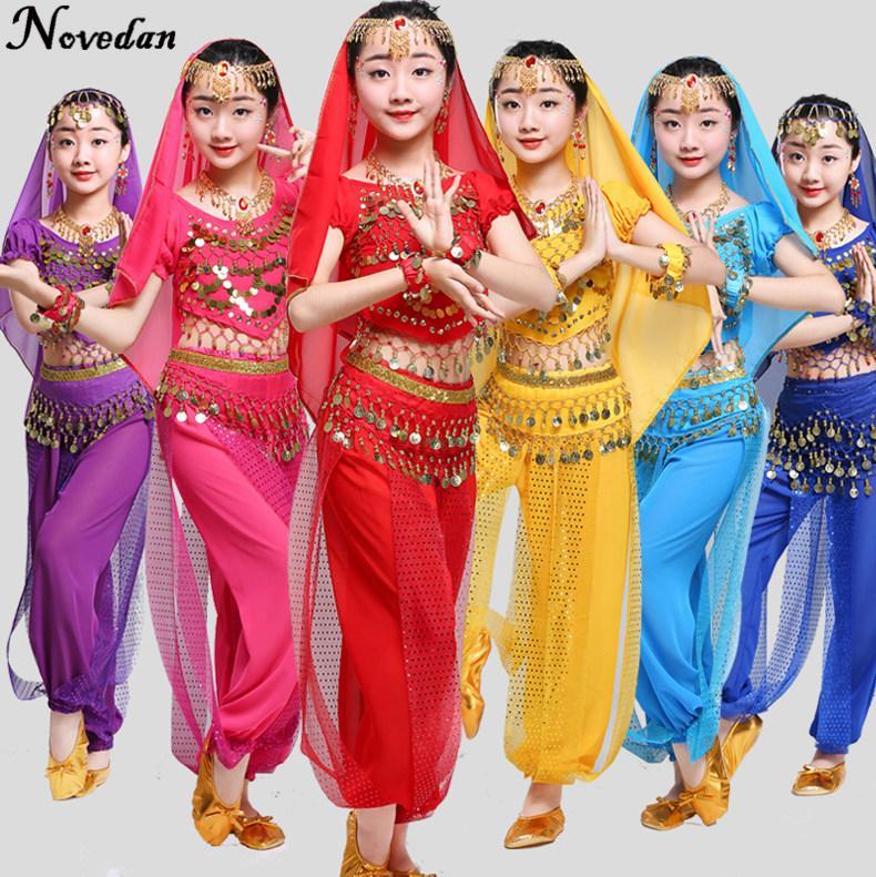 99d037b34c Compre Traje De Dança Do Ventre Crianças Criança Trajes De Dança Oriental  Roupas De Dança Do Ventre Bollywood Trajes Indianos Para Crianças Meninas  De ...