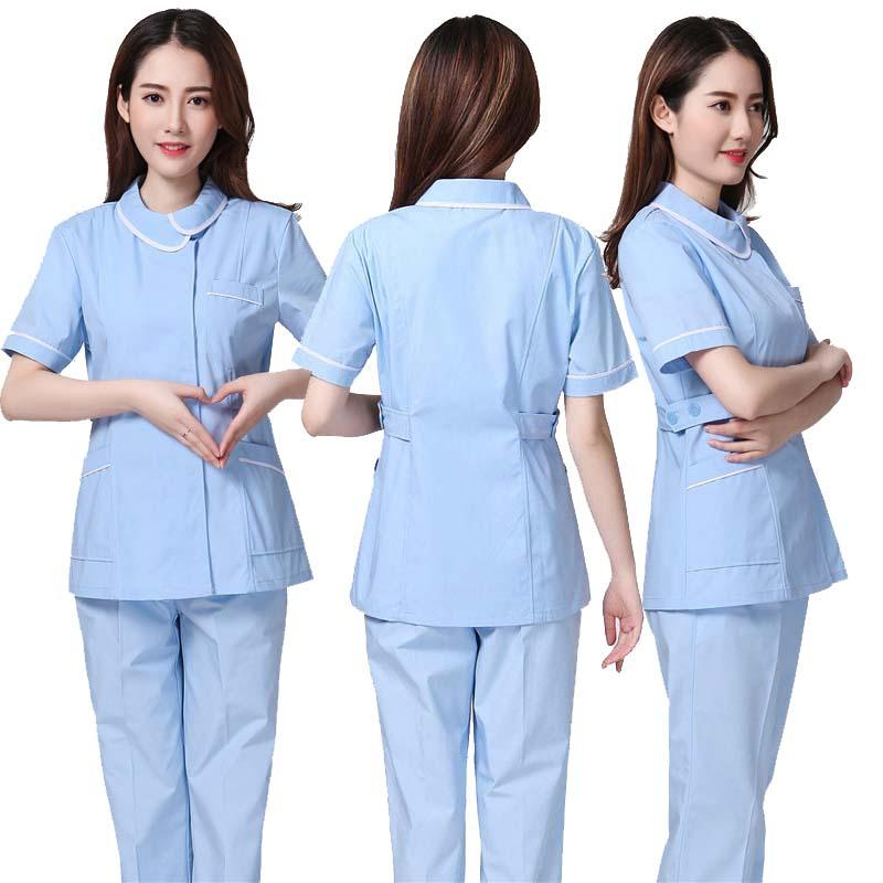 9bb1b0f6c76 2019 2018 Summer Women Hospital Medical Scrub Clothes Set Sale Design Slim  Fit Dental Scrubs Beauty Salon Nurse Uniform Spa From Tll13525777503