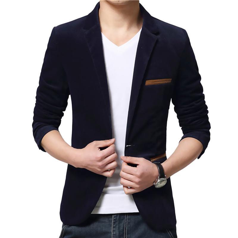 44afa1d22 YJSFG HOUSE Para hombre Marca Blazers Trajes elegantes Elegante Casual Slim  Fit Un botón Otoño Blazer Esmoquin Traje Abrigo Chaqueta de negocios Top
