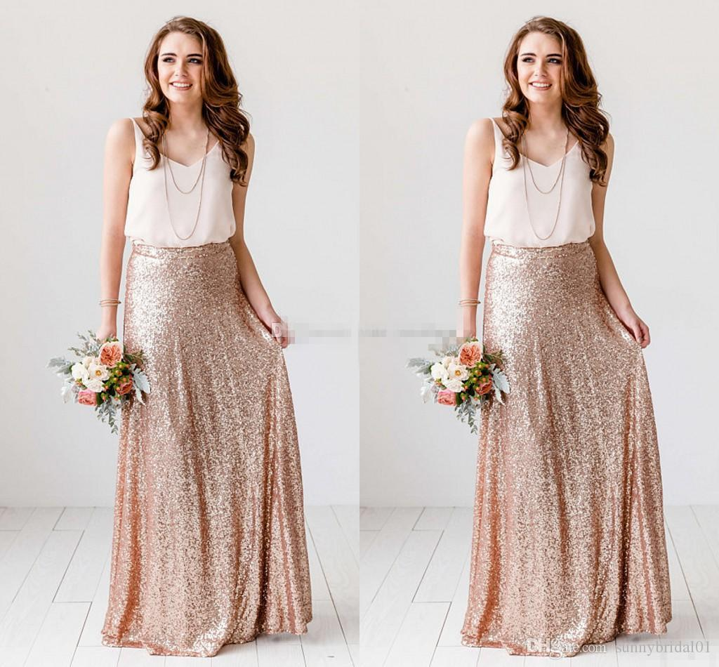 Gold and white short bridesmaid dresses exclusive photo