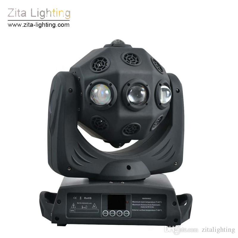 Zita Lighting Double Rotation Spheres Moving Head Lights LED 8X30W RGBW 4IN1 Football Moving Stage Lighting DMX Beam Lights DJ Disco Effect